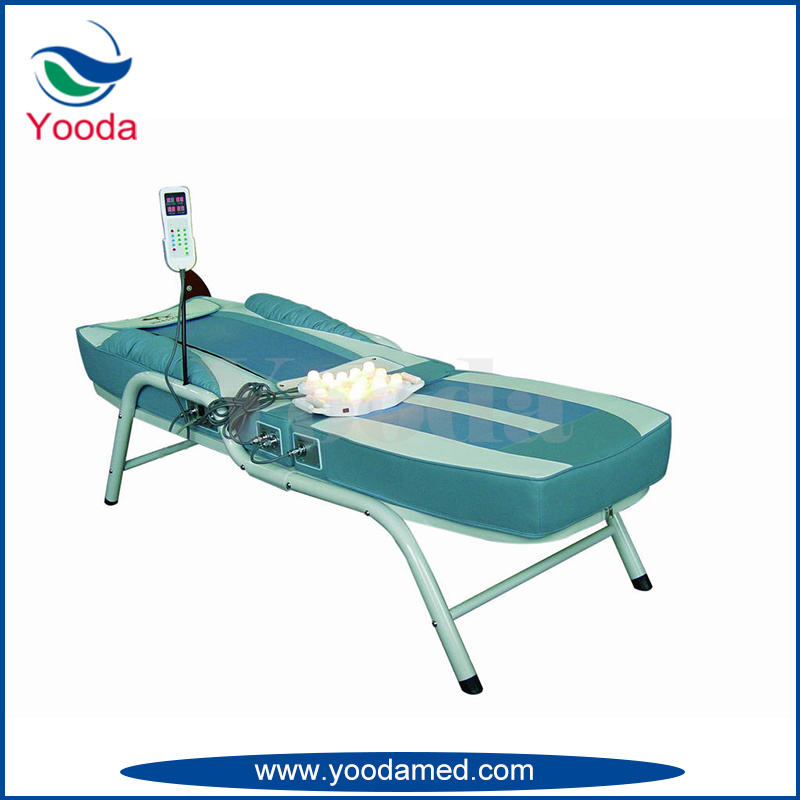 Folding Jade Massage Bed with Wheel