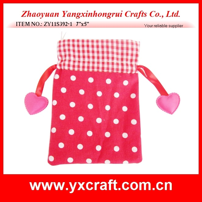 Valentine Decoration Free Sample (ZY11S392-1) Valentine Gift Bag with Ribbon
