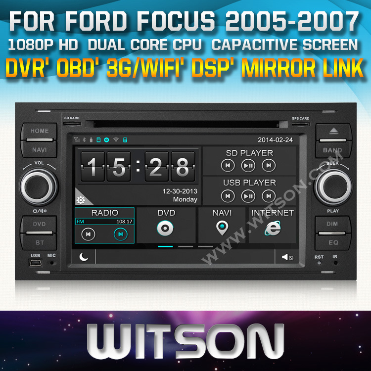china witson auto radio for for ford focus 2005 2007 c. Black Bedroom Furniture Sets. Home Design Ideas