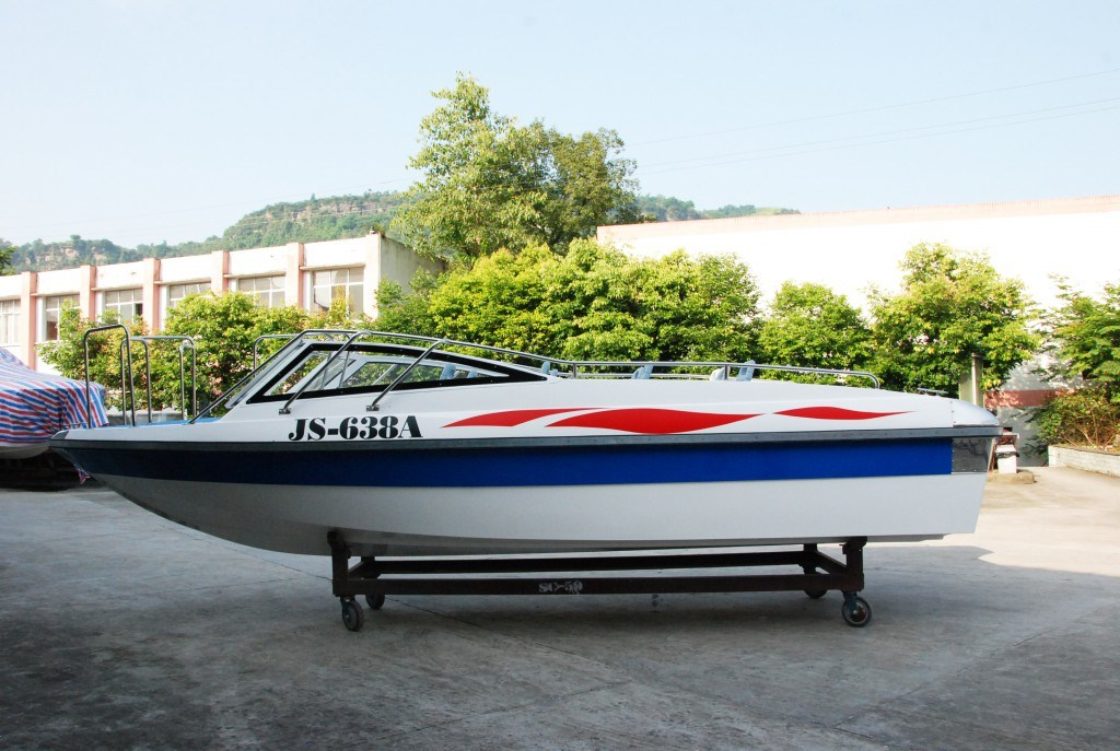 10 Persons Fiberglass Passenger Speed Boat