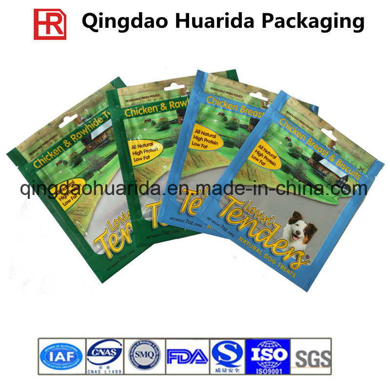 Stand up Plastic Pouch Dry Pet Food Packaging Bag
