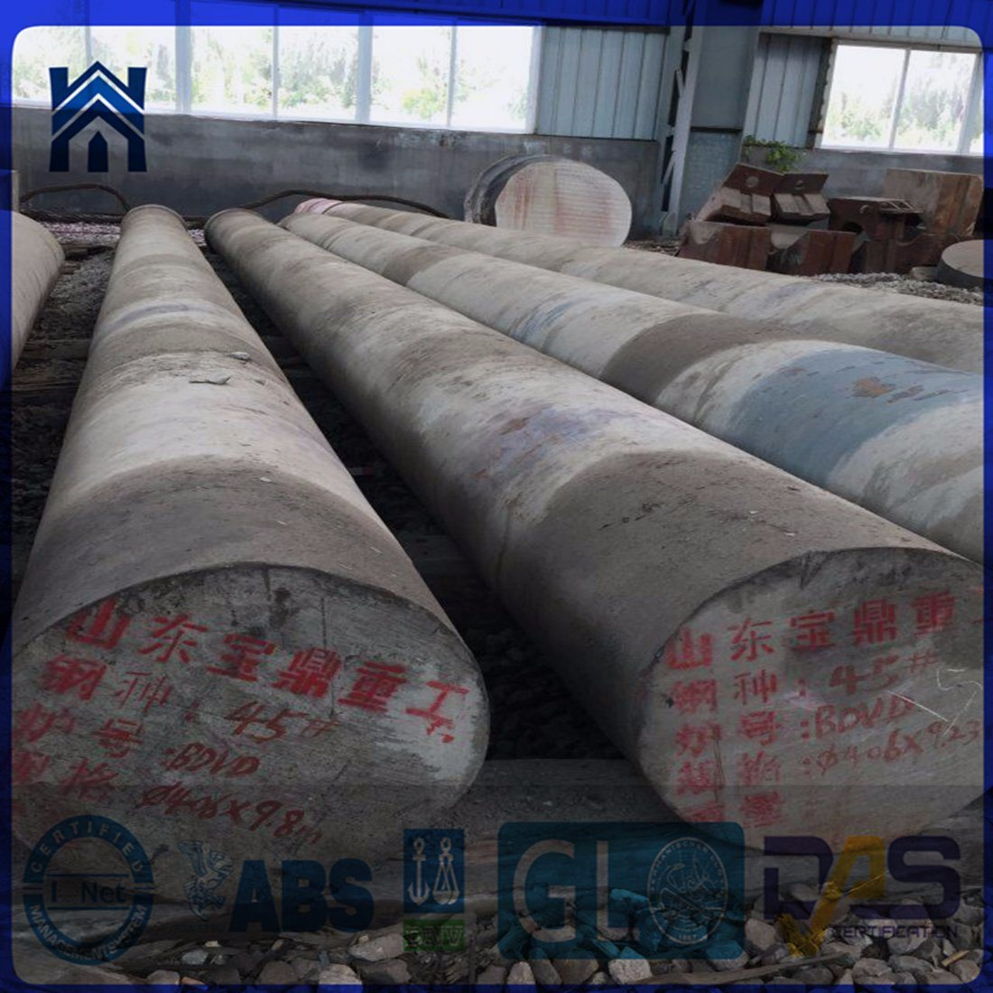 Large Size High/Low Carbon Steel Round Bar, Hot Forged Bar