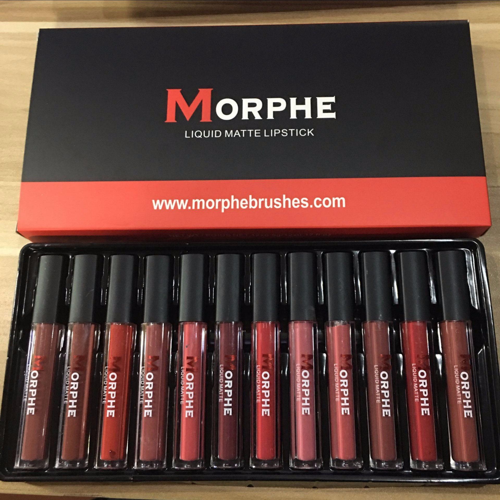 Morphe Matte Liquid Lipstick Lipgloss Brillant 12 Color Cosmetic Lip Gloss Set