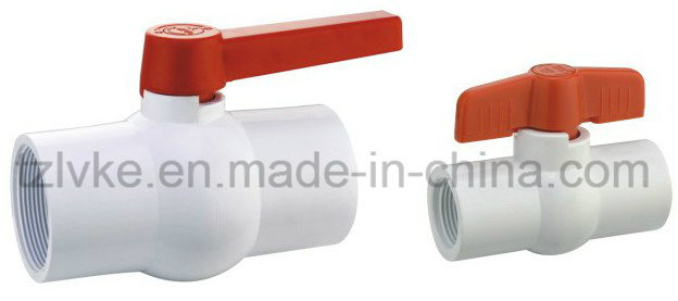 Plastic Compact Ball Valve for Water Supply with ISO9001: 2008 (F*F, BSPT, NPT)