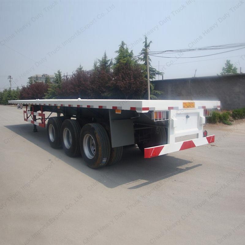 2017 Factory Price Tri-Axle 60ton 40FT Container Semi Trailer