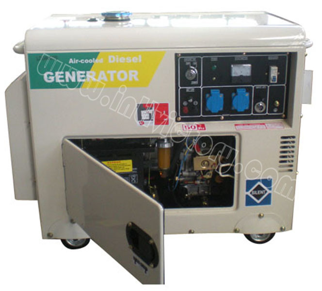 3kVA~6kVA Soundproof Air Cooled Diesel Portable Home Generator with CE/Soncap/Ciq Certifications