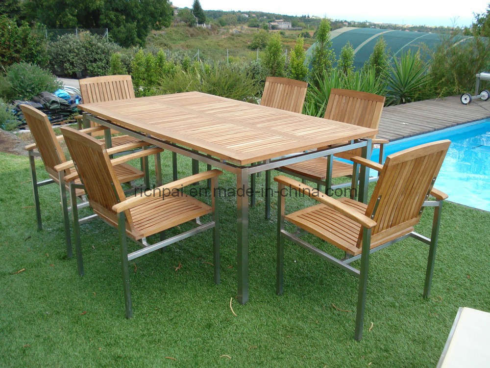 Patio Tables And Chair Sets Patio Design Ideas : Outdoor Garden Furniture Teak Table and Chair RCT002 RTT003  from patioideass.blogspot.com size 1000 x 750 jpeg 138kB