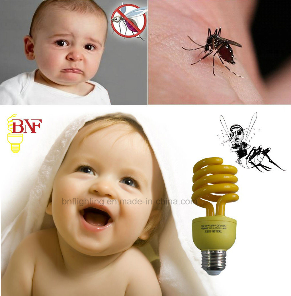 15W Yellow Mosquito Repellent CFL Lamp (BNF-Y)