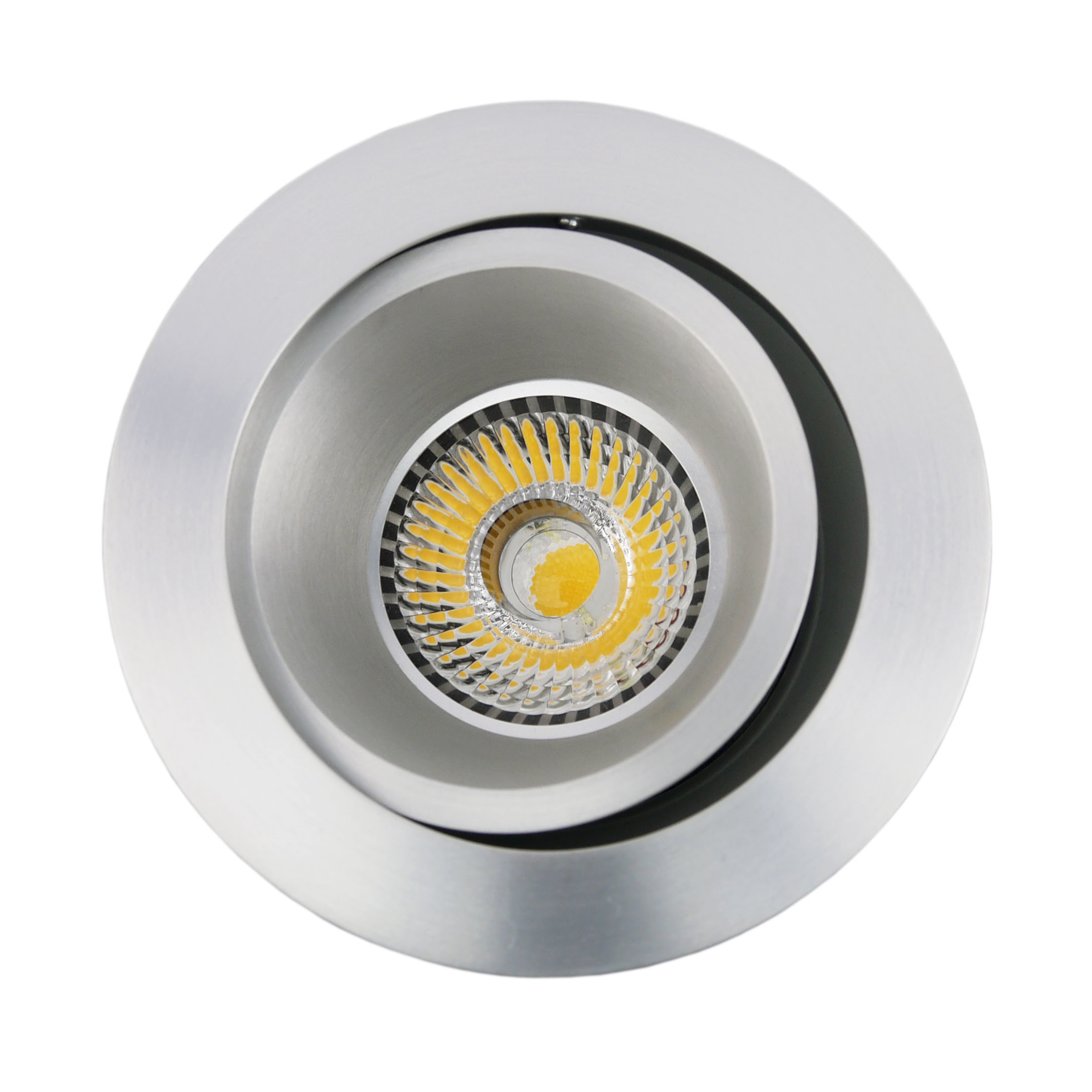 Lathe Aluminum GU10 MR16 Round Tilt Recessed LED Spotlight (LT2204B)