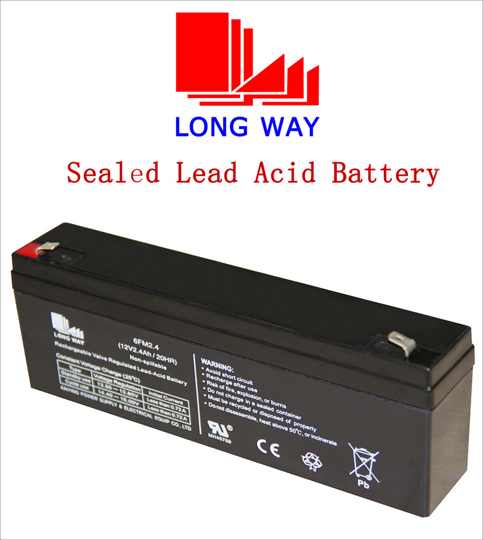 12V2.4ah Sound Equipment Rechargeable UPS Sealed UPS Lead Acid Battery