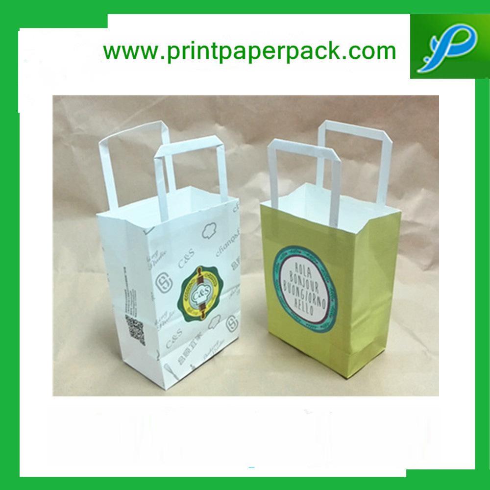 Custom Printed Kraft Paper Shopping Bag with Logo Printing