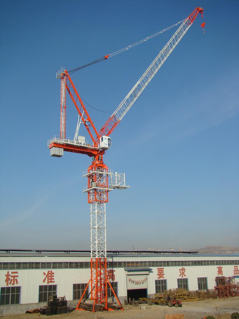 Tower Crane Productivity : Qtd luffing tower crane price china