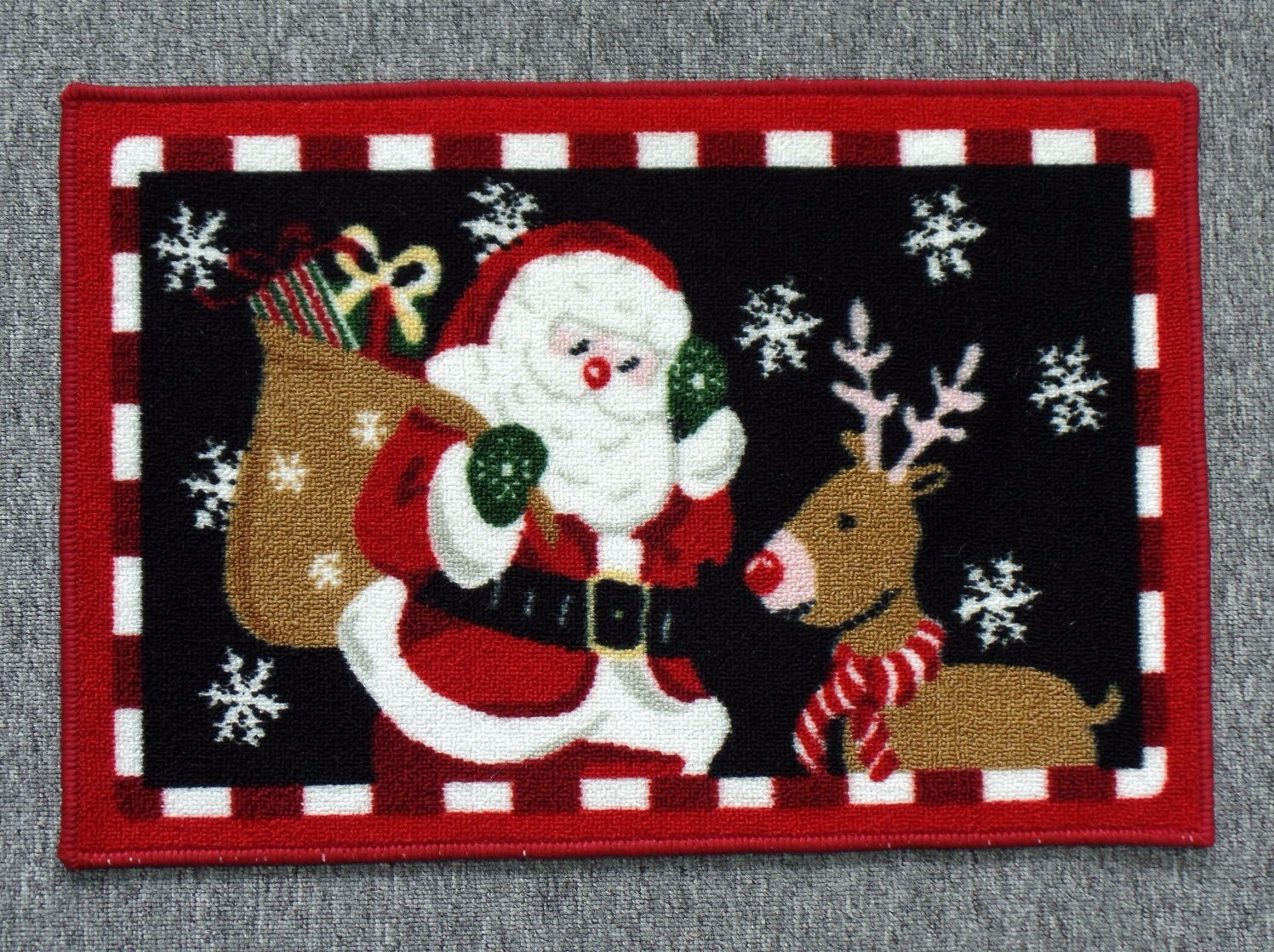 Nylon Rugs, with Christmas Patterns, #4
