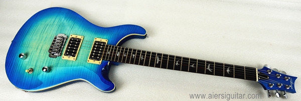 Prs Style Solid Body Electric Guitar Archtop Blue Colour
