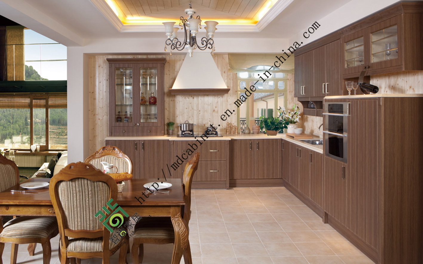 China Classical Modular Cheap PVC Kitchen Cabinets For Sale ZS 259