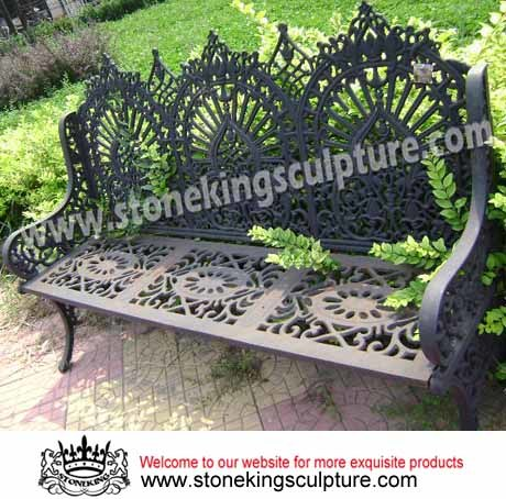 Cast Iron Bench, Artistic Garden Benches, Chair and Table (SK-7388)
