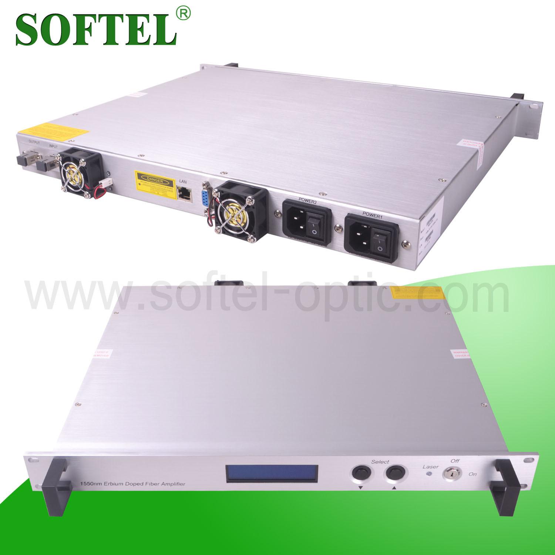 1 U Rack Erbium-Doped Fiber Amplifier (EDFA) with 26dBm Output Optical Power and Snmp (OPTIONAL) /High Power CATV Amplifier