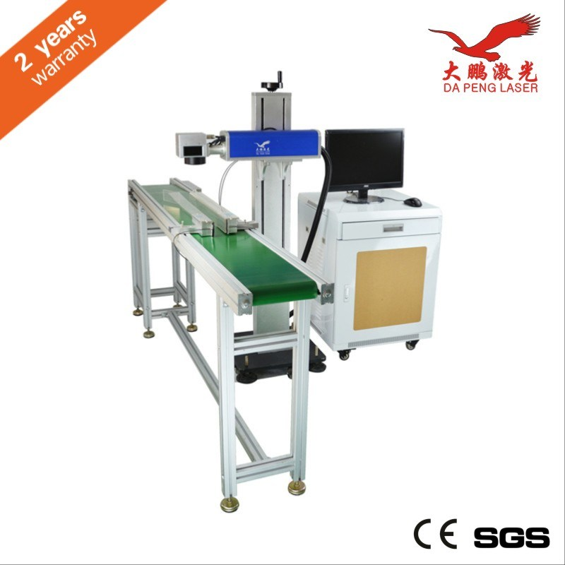 CO2 Laser Marking Machine on The Fly Marking for Alcohol Packaging