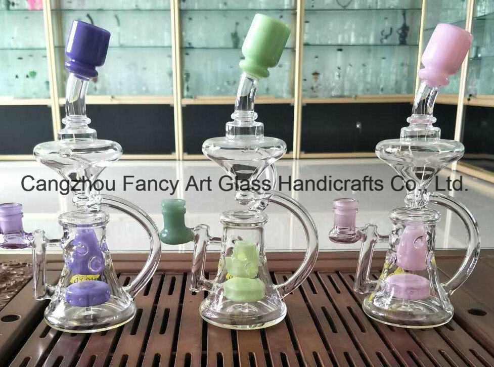 New Color Glass Recycler Glass Water Smoking Pipe