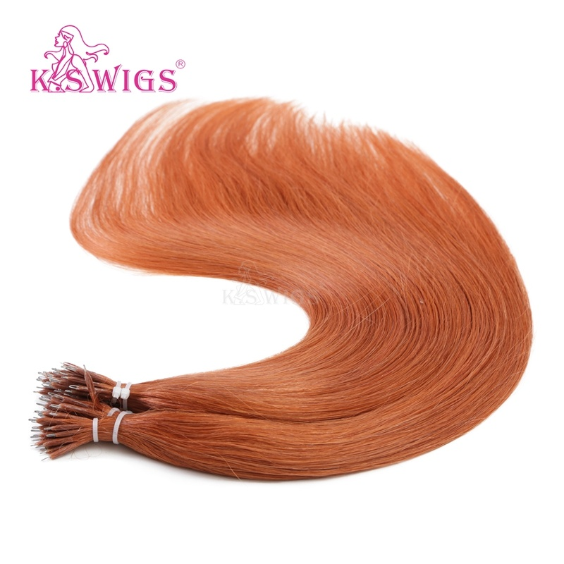 K. S Wigs Superior Quality Nano Ring Hair Keratin Hair Extension Brazilian Human Hair Extension 350#