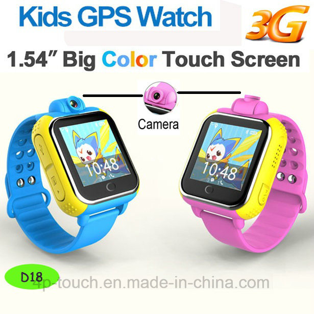 3G Smart Kids GPS Tracker Watch with 3.0m Camera (D18)