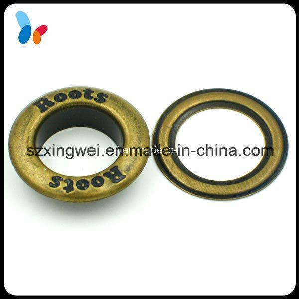 Custom Debossed Logo Anti-Brass Metal Round Eyelet