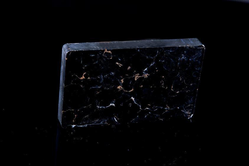 Black Acrylic Nature Texture Artificial Stone for Countertop E16