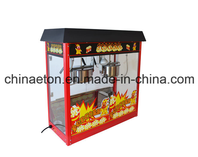 Luxury Popcorn Machine with Stainless Steel Pot in Red Color with Electric