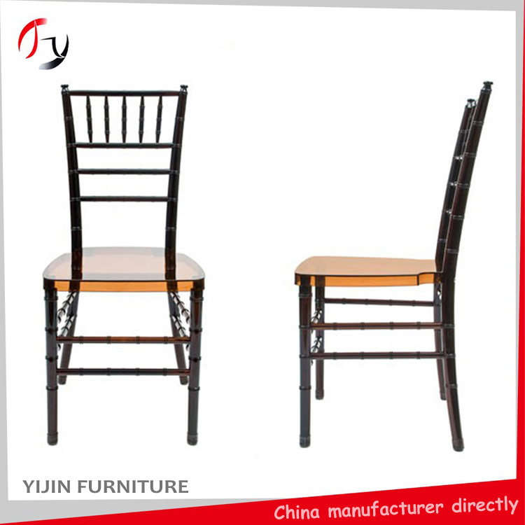 Modern Acrylic Resin Plastic Wedding Restaurant Banquet Tiffany Chiavari Chair (RT-01)