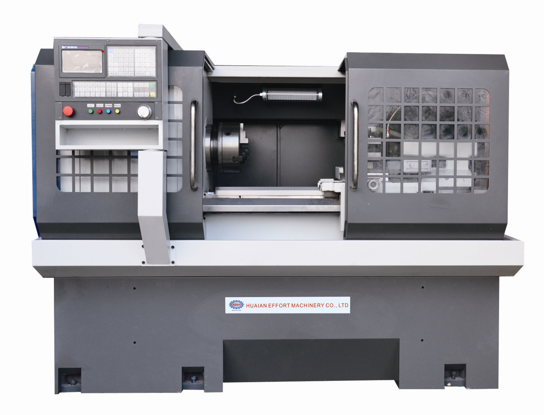 CNC Lathe with Flat Bed and Hardened Rail
