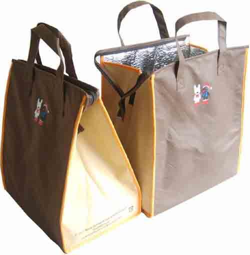 Non-Woven Insulated Thermal Tote Shopping Cooler Bags (MS3127)