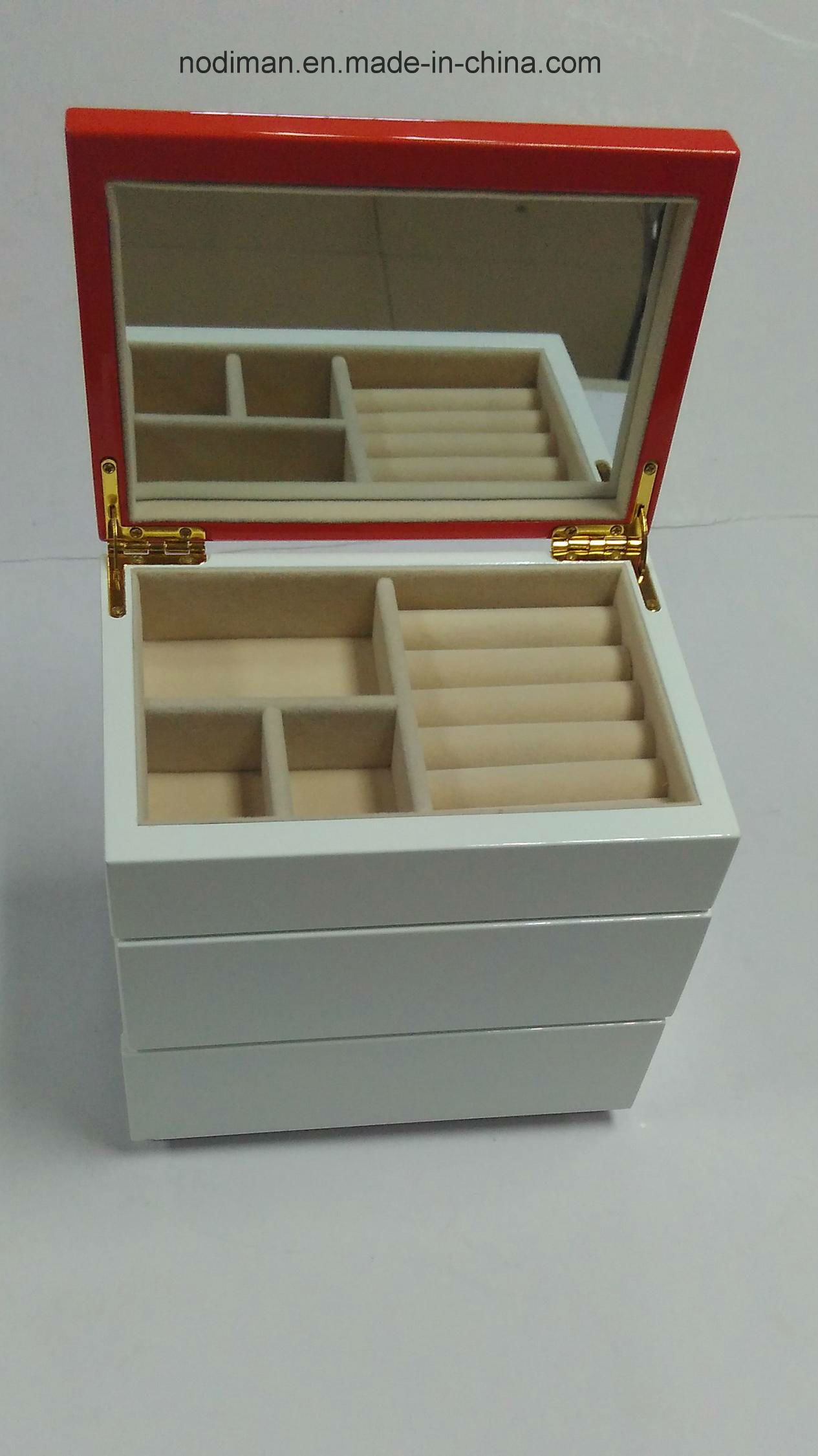 High Grade Jewelry Drawer Wooden Box