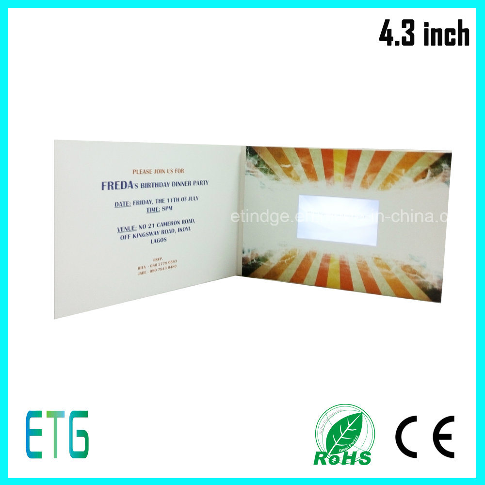 4.3 Inch Video Book for Greeting