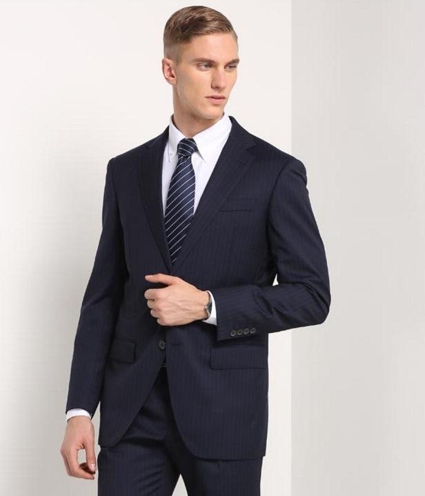 Business Slim Fit Black Men′s Suit