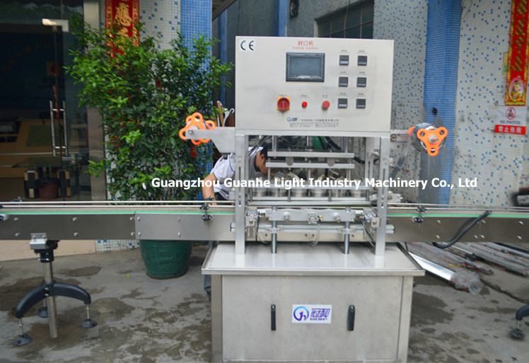 Automatic Linear Bottle Sealing Machine with Film Hot Sealing