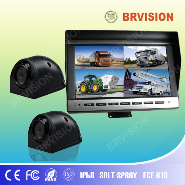 10.1 Inch Rear View System with Waterproof IP69k Side View Camera for Truck