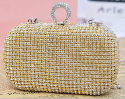 New Designer Handbag Luxury Full Diamond Evening Cultch Bag (XW717)