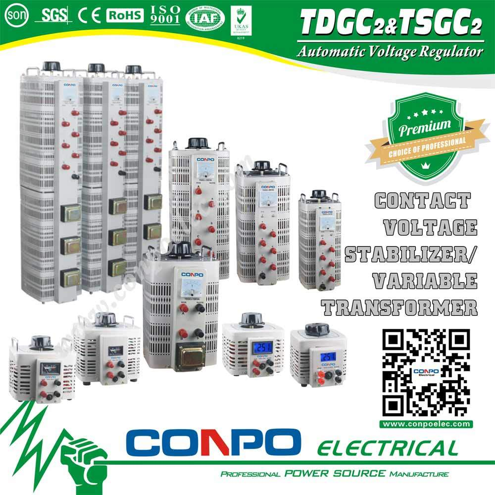 Tdgc2/Tsgc2 Series Contact Voltage Regulator/Variable Transformer