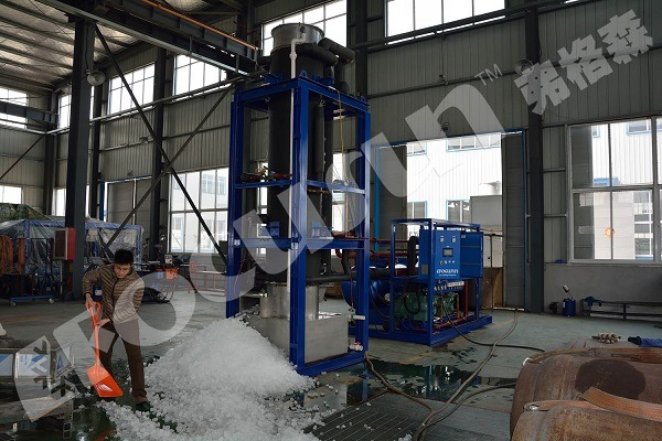 5 Tons/Day Tube Ice Plant with PLC Control