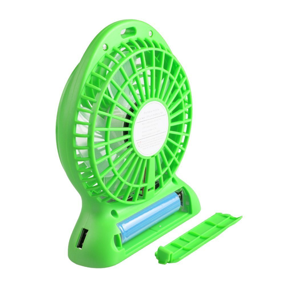Handheld Portable Mini Fan [with LED Lamp] Powered by Rechargeable Lithium Battery[Additonal Function as Power Bank] or USB Wire Provided Ideal