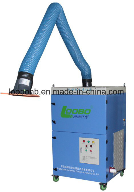 Portable/Mobile Welding Fume Extractor with Double Cartridge Filter and Fume Exhaust Arm