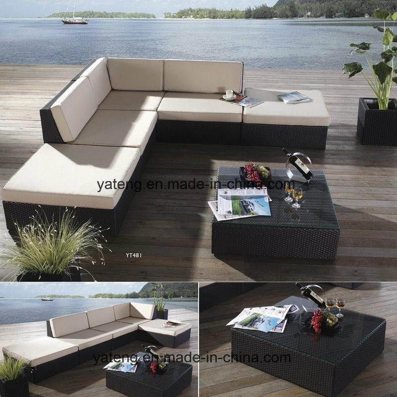 Cheap Outdoor PE Rattan Furniture Garden Synthetic Rattan Cornor Sofa