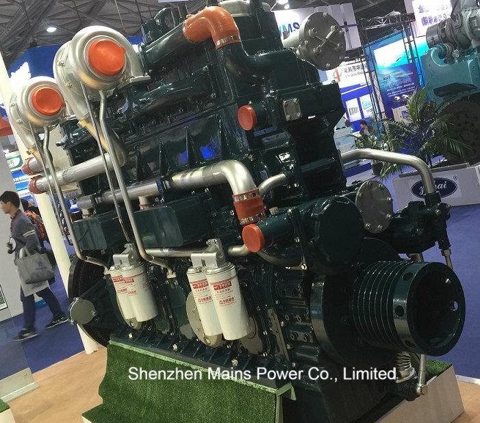 600HP 1500rpm Yuchai Marine Diesel Engine Fishing Boat Motor