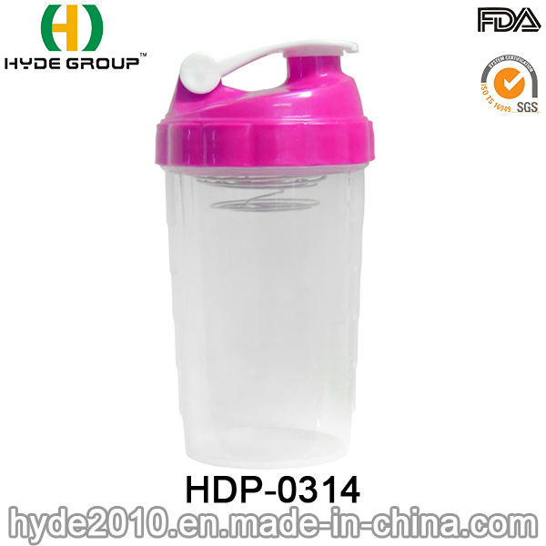 2017 Popular Portable PP Plastic Shake Bottle, BPA Free Plastic Protein Powder Shaker Bottle (HDP-0314)