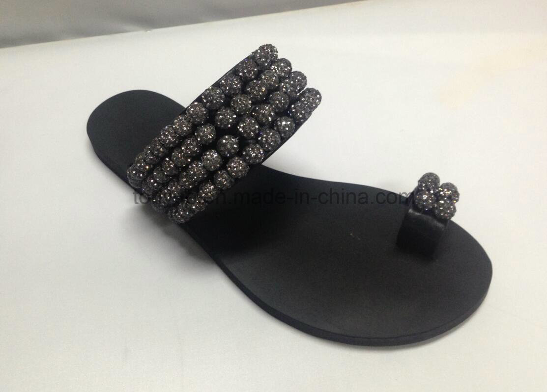 Lady Leather Shoe Flat Fashion Women Sandals