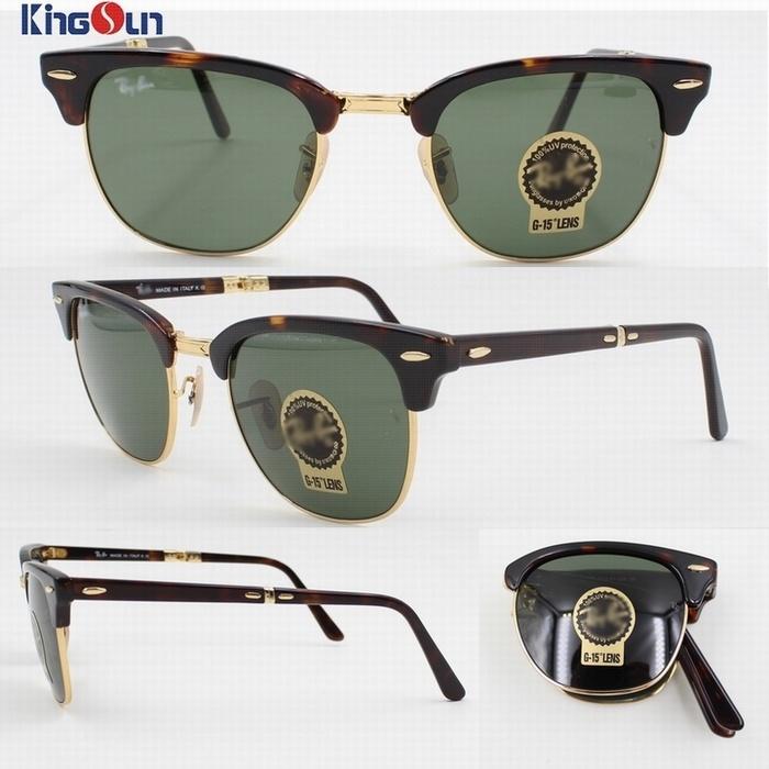 High Quality Folding Acetate/Tr Sunglasses with Glass Lens Ks1160