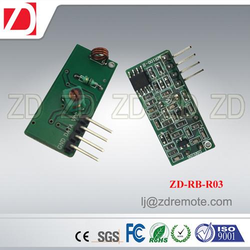 Best Price 433MHz RF Receiver Module Superregeneration for Motorcar Alarm System Zd-Rb-R02
