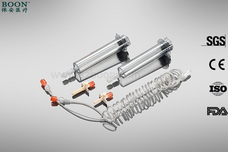 65ml /65ml Medrad Spectris Solaris Injector Mr Syringe with Ce ISO FDA