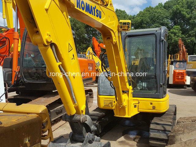 Used Japan Mini Digger Komatsu PC55mr-2 Excavator