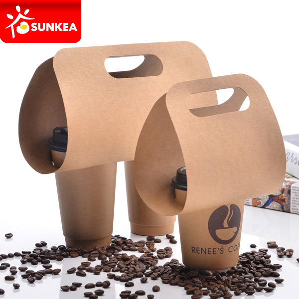4 Cup Pulp Mould Cup Carrier, Coffee Cup Holders